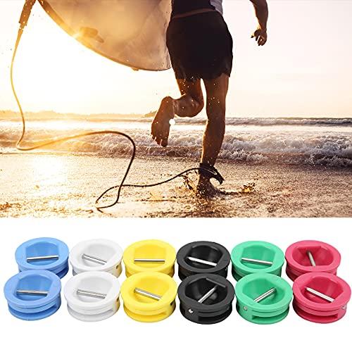 Caiqinlen Enchufe de la Taza de la Correa de Longboard, Accesorios de la Tabla de Surf Hebilla de cinturón de Acero Inoxidable Tabla de Surf Enchufe de la Correa de Longboard Portátil para Surfear