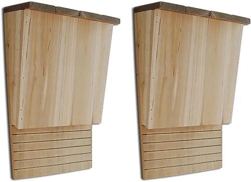 vidaXL Set de 2 Maisons pour Chauves-Souris 22 x 12 x 34 cm Cages pour Chauves-Souris