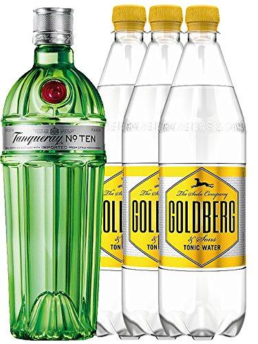 Tanqueray No.10 Ten Gin 0,7 Liter + 3 x Goldberg Tonic 1,0 Liter
