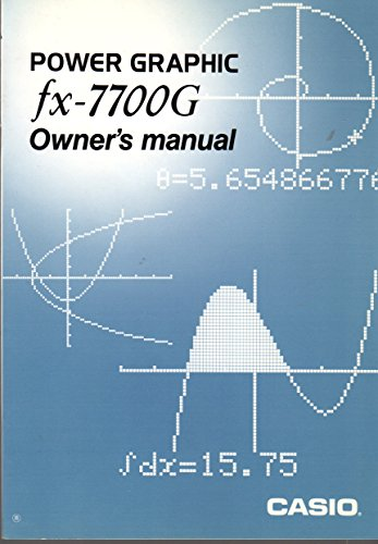 Compare Textbook Prices for A guide to using the Casio fx-7700G power graphic calculator in precalculus mathematics  ISBN 9780023437212 by Girard, Joan Ebert