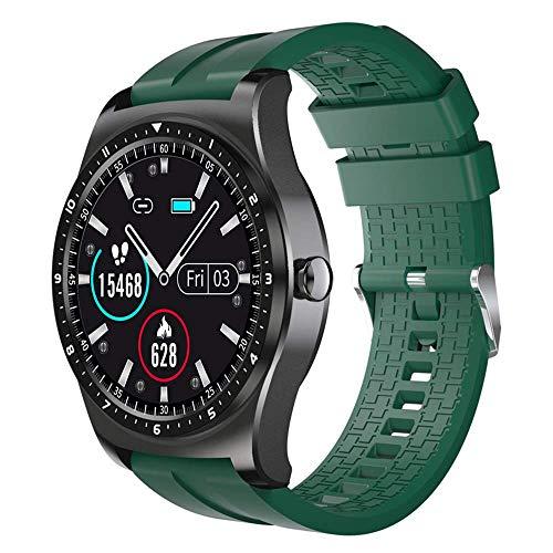 JIAJBG el Recordatorio Elegante Reloj de Moda Q69 Hombres Mujeres Rastreador de Ejercicios Ip68 Vida Impermeable Monitor de Ritmo Cardíaco Mensaje de Llamada, para Ios, Android nobl