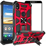 Ailiber Compatible with Alcatel Lumos(DALN5023), Alcatel Axel(5004R) Case with Screen Protector, for Magnetic Car Mount, Kickstand Holder, Durable Military Grade Protective Cover for AT&T Axel-Red