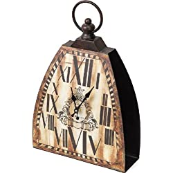 Manual Woodworkers and Weavers The Shed Collection Kettle Bell Clock, 12.65-Inch,White