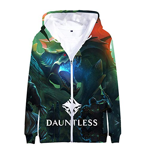 Chfjgkirer Dauntless Pullover Hooded Zipper Mantel Hipster 3D Digital Printing Oberbekleidung Langarm-Sweatshirt Unisex (Color : A11, Size : Height-170cm(Tag M))