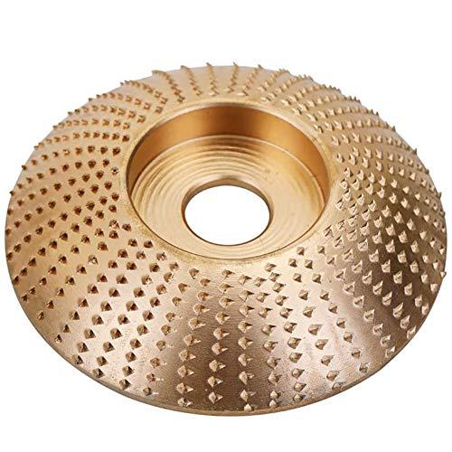 Schleifscheibe Holz,MZSM Holz Winkelschleifscheibe Schleifen Disc Carving Tool, Wolfram Stahl, Holzraspel für Winkelschleifer,3,3 Zoll/85mm Sanding Wheel,Abrasive Disc