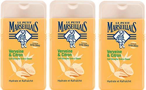 Le Petit Marseillais duschgel extra mild zitronenverbene und 250 ml Packung mit 3