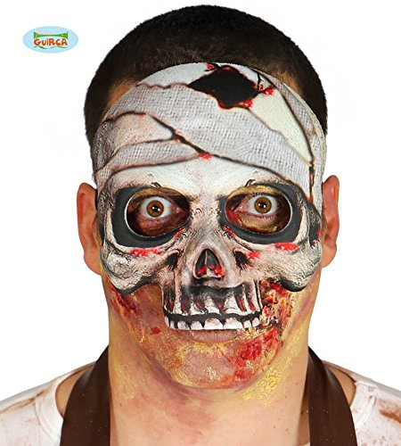 Mummie skelet masker gemaakt van papier -mache