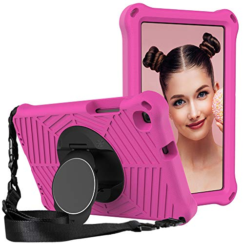 GOZOPO Funda para Samsung Galaxy Tab A 8 pulgadas 2019 Modelo SM-T290/T295/T297 - Resistente a los golpes Funda con función atril y correa de hombro (rosa)