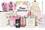Urllinz Retirement Gifts for Women 2021 Funny-Female Retirement Gifts for Teacher Nurse Retirement Gift Ideas, Retirement Party Decorations,Happy Retirement Gifts for Mom Grandma,Retired Gifts Present