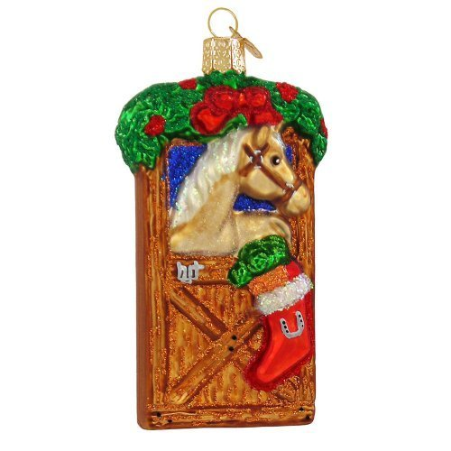 Horse In Stall Christmas Ornament by Old World Christmas