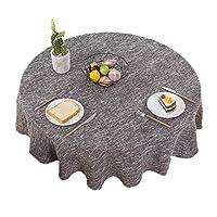 WZHONG 大規模なソリッドカラーの防汚ウェアラブルテーブルクロスラウンドテーブルクロスホーム北欧コットンリネンのテーブルクロス布生地のレストラン (Color : Green, Size : 180cm)