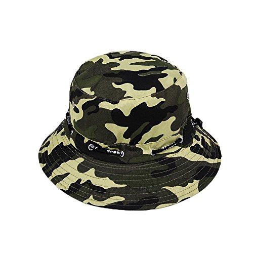 Ogquaton AAT Gorra de camuflaje Bob plegable para el sol, sombrero de pescador de lona anti UV unisex para viajes/al aire libre, creativo y útil