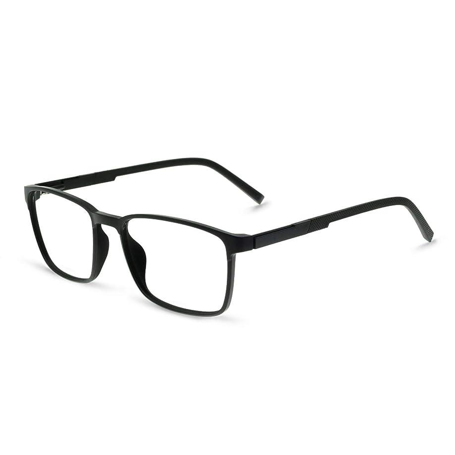 OCCI CHIARI Mens Rectangular/Square Fashion Acetate Eyewear Frame with Clear Lens