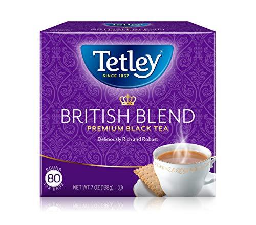 Tetley British Blend Premium Black Tea, 80 Tea Bags (Pack of 12), Rainforest Alliance Certified