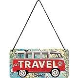 Nostalgic-Art VW Bulli-Let's Travel The World Cartel para Colgar: 10 x...