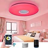 Plafoniere, lampadari, plafoniera Musicale a LED con Smart Alexa, plafoniera WiFi da Soggiorno 36W, Colore RGB dimmerabile con Altoparlanti Bluetooth, Telecomando, per Camera da Letto, cameretta dei