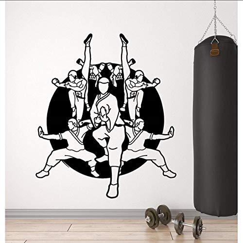 Layyqx Vinyl wandlamp, karate, school, krijger, oosters, vechtkunst, sport, zelfklevend, 57 x 67 cm