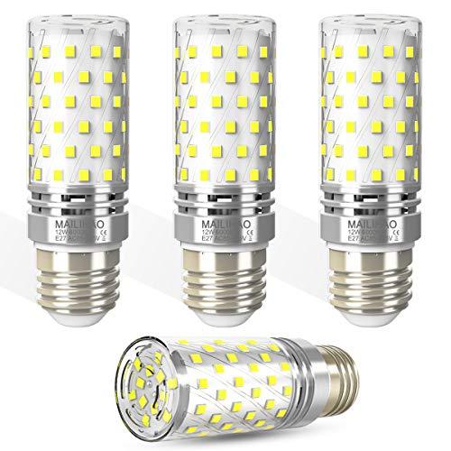 E27 LED Glühbirnen 12W 1400LM Kaltweiß 6000k E27 Mais Lampen Birnen ersetzt 100W Glühlampe, E27 Maiskolben Led Birne Kleine Edison-Schraube Kerze Leuchtmittel Nicht dimmbar, 4er Pack