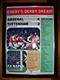 Sports Prints UK Arsenal 4 Tottenham Hotspur 2-2018 Premier