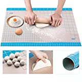 36' x 24' Silicone Pastry Mat Extra Large Non Stick Baking Mat, Full Sticks To Countertop Surface Liner For Rolling Dough Kneading Fondant Pie Crust Pizza Cake Bread Cookie Bake Scone