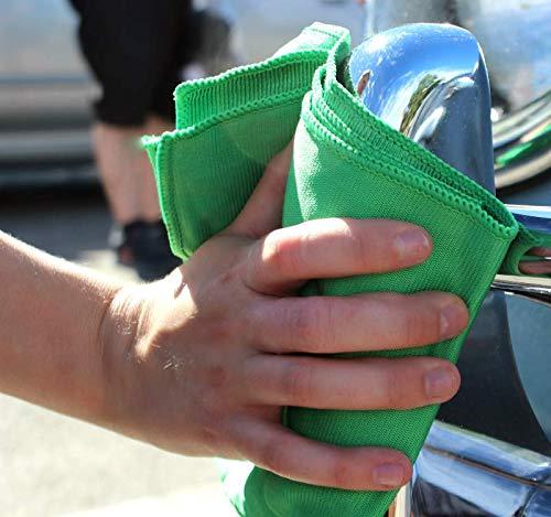 Green Microfiber Glass Towels
