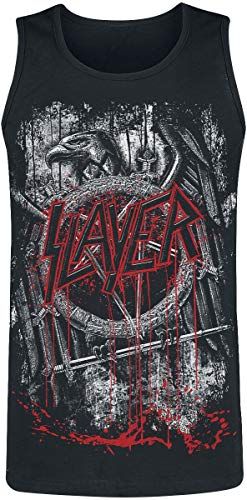 Slayer Dripping Skull Männer Tank-Top schwarz L 100% Baumwolle Band-Merch, Bands, Totenköpfe