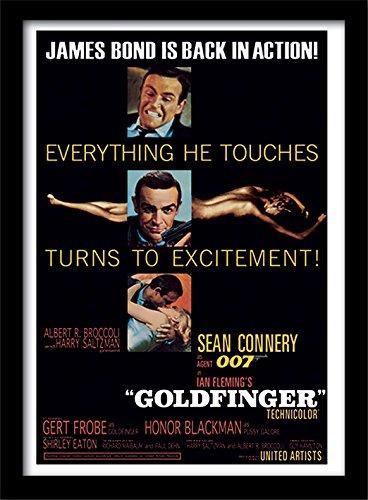 Pyramid International James Bond Goldfinger gerahmtes Filmplakat
