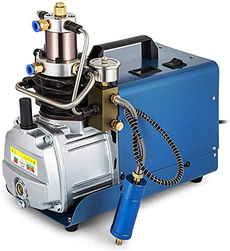 Kacsoo Hochdruck Luftkompressor High Pressure Air Pump 300BAR 30MPA 4500PSI AUTO Stop Elektrischer Luftkompressor, PCP-Luftpumpe für die Aufblasflasche, PCP Inflator Pneumatische Fahrradreifen
