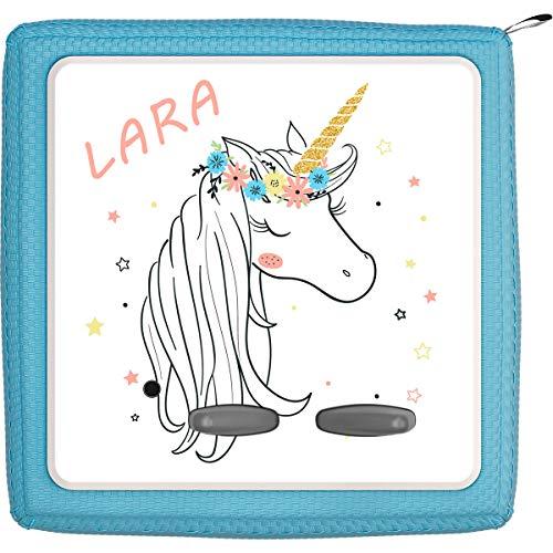 Coverlounge Schutzfolie passend für die Toniebox | Folie Sticker | Einhorn mit bunten Sternen mit Name personalisiert