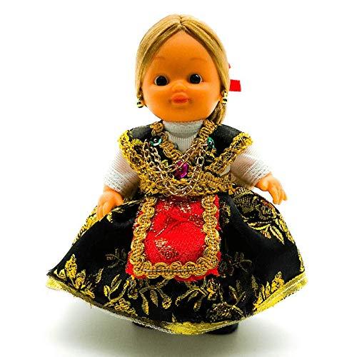 Folk Artesanía Muñeca Regional colección de 15 cm con Vestido típico Zamorana Zamora España.