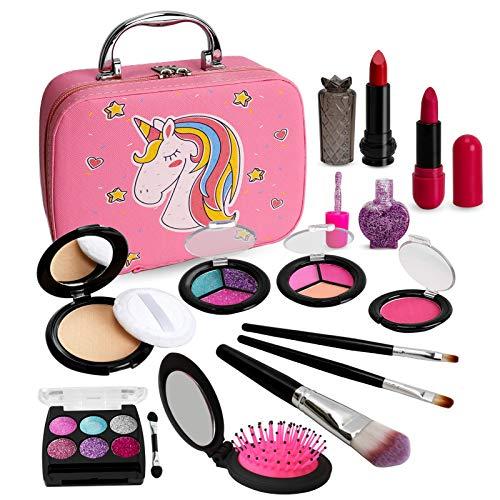 Sendida Washable Makeup Toy for Girls - Real Kids Makeup Toys Kit Princess Pretend Play Christmas Birthday 3 4 5 6 Gift for Girls