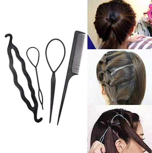 Ogquaton Premium Qualité Nouveau 4Pcs / Set Cheveux Twist Styling Clip Bâton Bun Maker Tresse Outil Accessoires De Cheveux