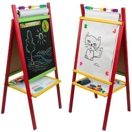 3TOYSM MPN Schreibtafel, beidseitig verwendbar, magnetisch, Holz, lackiert