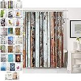 Sanilo Duschvorhang, viele schöne Duschvorhänge zur Auswahl, hochwertige Qualität, inkl. 12 Ringe, wasserdicht, Anti-Schimmel-Effekt (180 x 180 cm, Antik)
