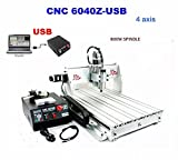 6040Z 4 ejes cnc enrutador grabador máquina de grabado herramienta de corte fresadora