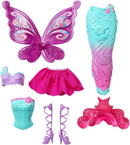 Barbie Dreamtopia, muñeca fiesta de disfraces princesa, sirena y hada, regalo para niñas y niños 3-9 años (Mattel DHC39)