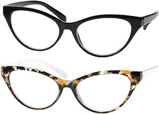 SOOLALA Modern Cat Eye Clear Lens Eye Glasses Frame...