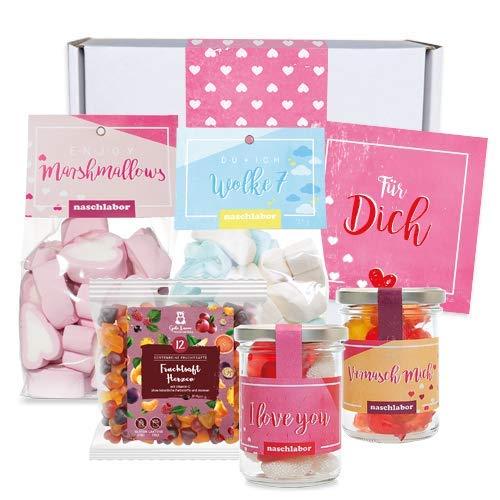 großes Geschenkpaket zum Valentinstag hochwertige Fruchtgummis (Groß)