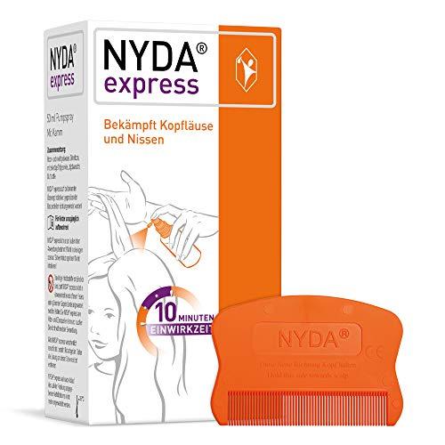 NYDA express Läusemittel - schnell und effektiv gegen Kopfläuse und Nissen, 50 ml