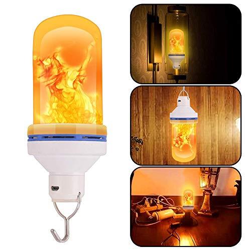 Fesjoy Bombilla LED Efecto Llama 4 Modos Efecto revés