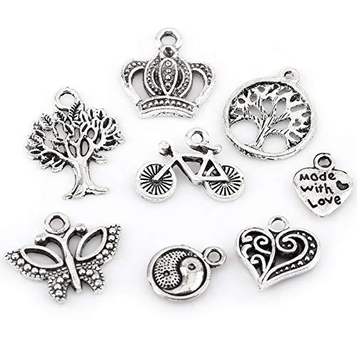 Piezas Colgantes, Accesorios de Amuleto de patrón Mixto CREA tu Propia artesanía única Fabricación de Piezas para Llevar y más Barata para Hacer a Mano para Bricolaje