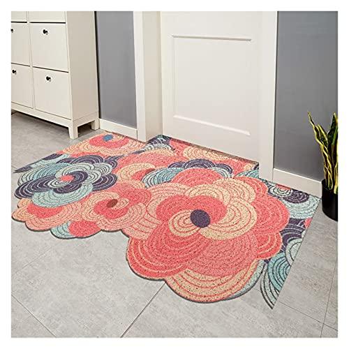 Rectángulo de PVC se puede cortar el suelo alfombra de la puerta alfombra de la alfombra de la alfombra de la entrada de la entrada de la entrada de la casa antideslizante PVC del piso del piso del pi
