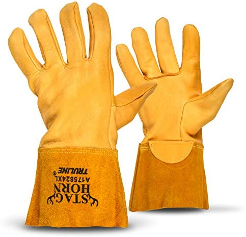 Staghorn Premium Deerskin Leather Work Gloves By Truline Heat Resistant XXL product image
