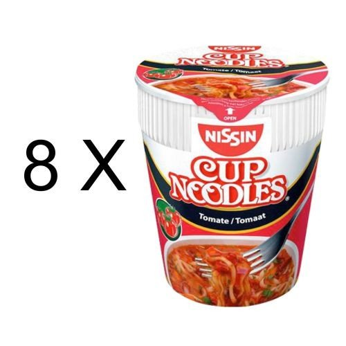 Nissin Cup Noodles Tomate (8x 65g Becher)