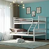 Panana Triple Sleeper Bunk Beds, Single Top Double base bed   Solid Wood Frame   Children's Bed room Furniture   Wooden Bed Frame suitable for Parents & Children