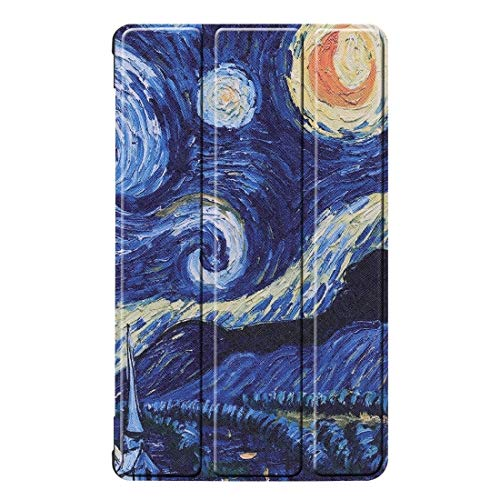 Shockproof hard and comfortable protective case Sky Pattern Colored Painted Horizontal Flip PU Leather Case for Huawei Honor Tab 5 8.0, with Three-folding Holder,Simple, comfortable, easy to carry.