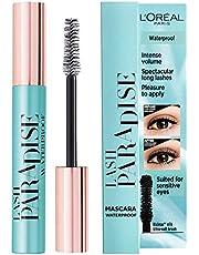 L'Oréal Paris Lash Paradise Mascara Waterproof - L'Oréal mascara voor intens volume, verrijkt met castorolie en rozenolie - 6.4 ml (Paradise Extatic mascara), 01 Waterproof
