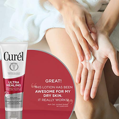 Curél Ultra Healing Intensive Body Lotion, Body and Hand Moisturizer for Extra-Dry, Tight Skin, 2.5 Ounce (Pack of 4), with Advanced Ceramide Complex and Hydrating Agents