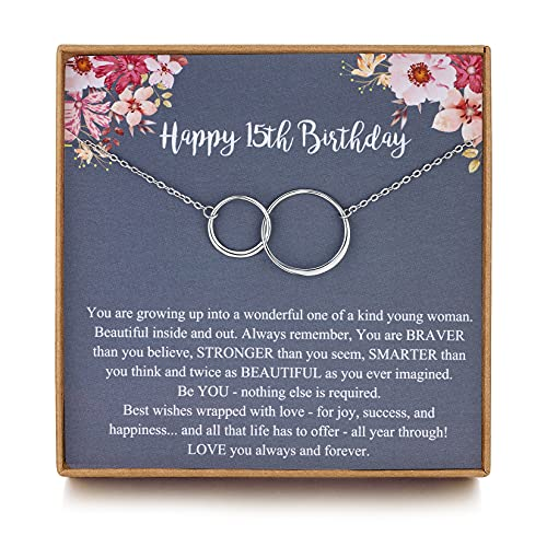 MUSIER PARIS Sweet 15th Birthday Gifts for Girls, 15 Year Old Girls Gifts,...
