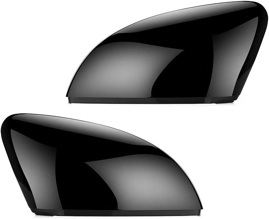 2pcs Side Reservation Wing Mirror Black depot Cover Caps VW 7.5 for MK7 Golf Fit 7